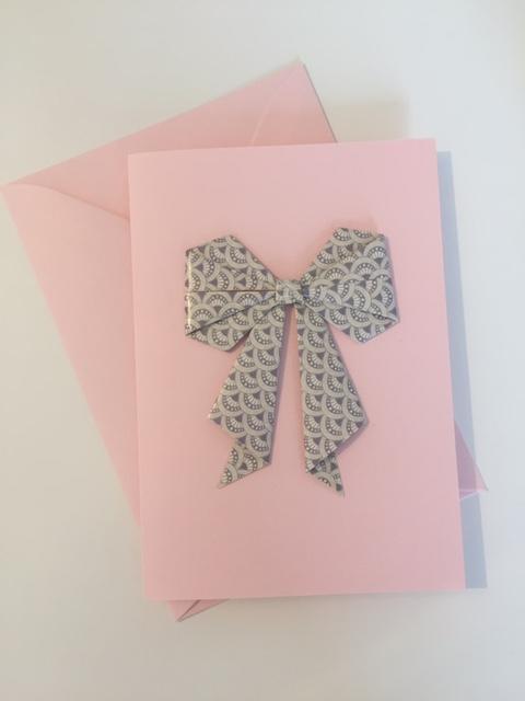 Grußkarte Rosa-grau-gemustert