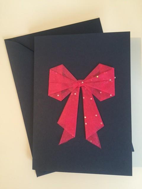 Grußkarte Dunkelblau-pink